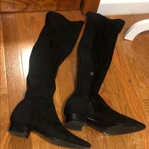 Black over the knee Zara boots!